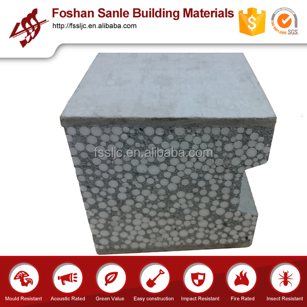 Eps concrete prefabricated sandwich panel / ready made walls / prefabricated house