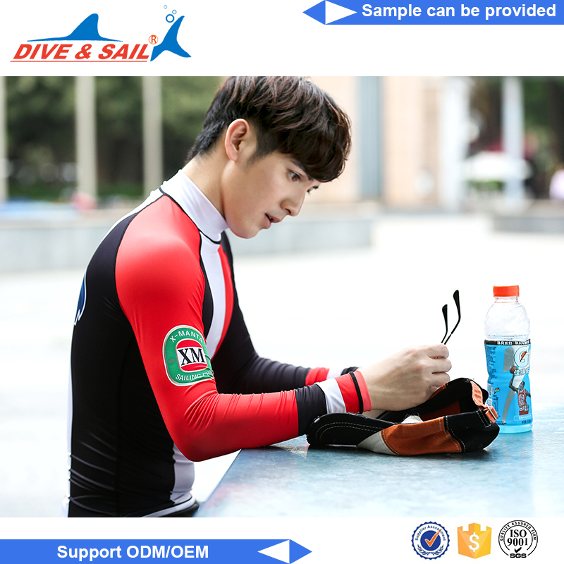 High Quality Long Sleeve Lycra Custom men men compression rash guard jerey
