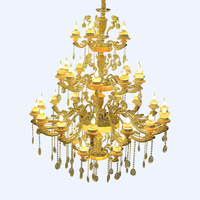 Modern style large modern hotel lobby luxury decoration led bulb crystal chandelier SJ0166