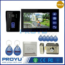 video door entry system, video intercom ID card unlocking function,