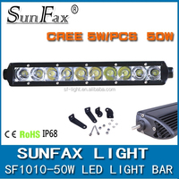 Mini Slim Heavy duty off road high powered single row 4x4 13inch 50w led light bar