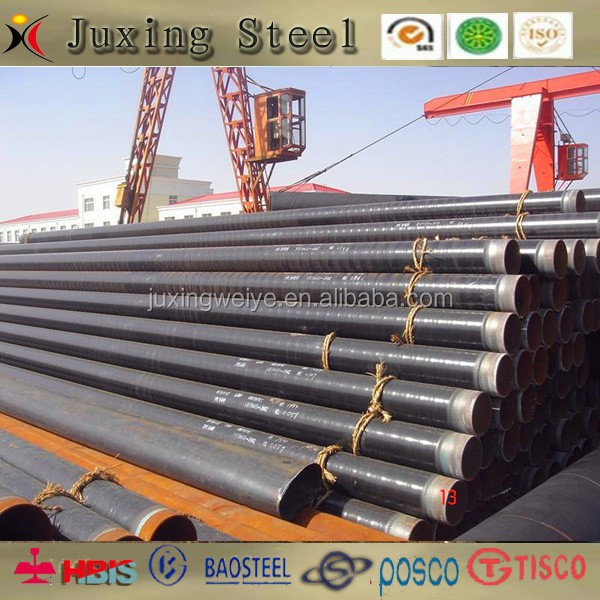 easy welding black steel 3pe pipe for oil supply