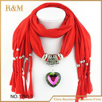 NEW jewellery pendant scarf charm heart Jewelry scarves necklace women's scarf