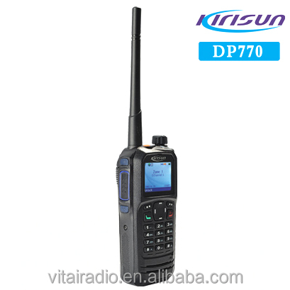 Kirisun DP770 DMR Tier 2 & Tier 3 Two-way radio IP67 Water & Dust 2000mAh Li-ion 136-174MHz/400-470MHz Handheld Radio
