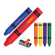 Children stationery stylus design rubber pen with big logo