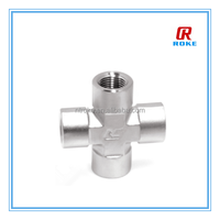 stainless steel 316 cross female NPT joint fitting