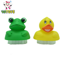 Yotoys baby vinyl toys , frog pig cow chicken finger puppet shape bath toys for kids education