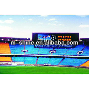2012 new inventions Circular/Arc shaped Full Color screens football stadium