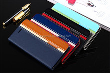 Luxury Mix Color Business Fashion Flip Stand PU Leather Phone Case For Huawei P8