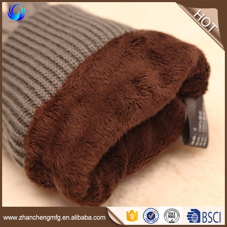 WARMEN Women's Pigskin Suede Leather Gloves long fleece lined with Rib-knit Cuff for Winter