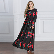 2017 popular pretty kaftan muslim long dress