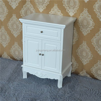 French provencal white&black eco-friendly wooden living room cabinet