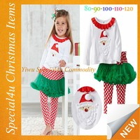 2015 Child clothes wholesale carters baby clothes girls christmas boutique outfits SYCI-082