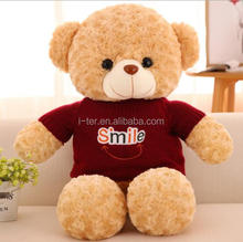 Custom soft toys raw materials T-shirt teddy bear plush toy