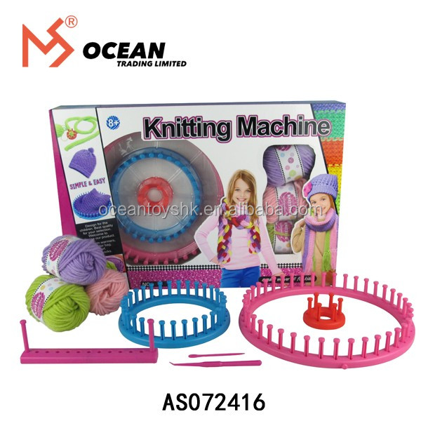 DIY circular sock hand knitting yarn machine toys