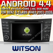 WITSON ANDROID 4.4 CAR AUDIO SYSTEM FOR MERCEDES-BENS G-CLASS W463 2001-2008 WITH CAPACTIVE SCREEN BLUETOOTH RDS 3G