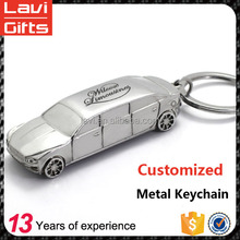 Top technology custom metal car shaped keychain