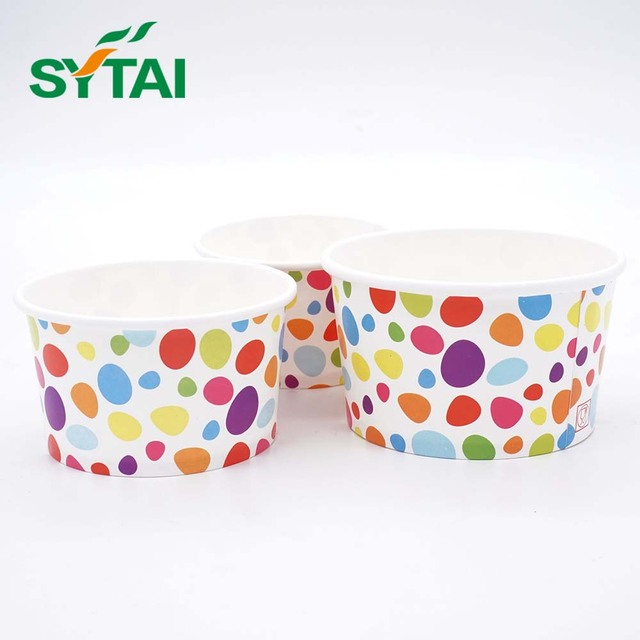 Double pe coated paper biodegradable ice cream cups