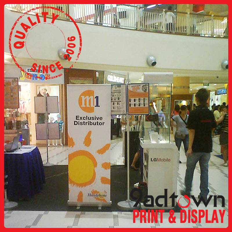 Aluminum retractable roll up banner stand printing