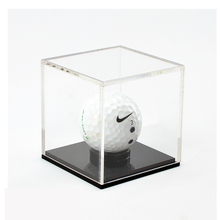 wholesale custom cube acrylic plexiglass golf ball display case stand balloon display stand baseball cap display case