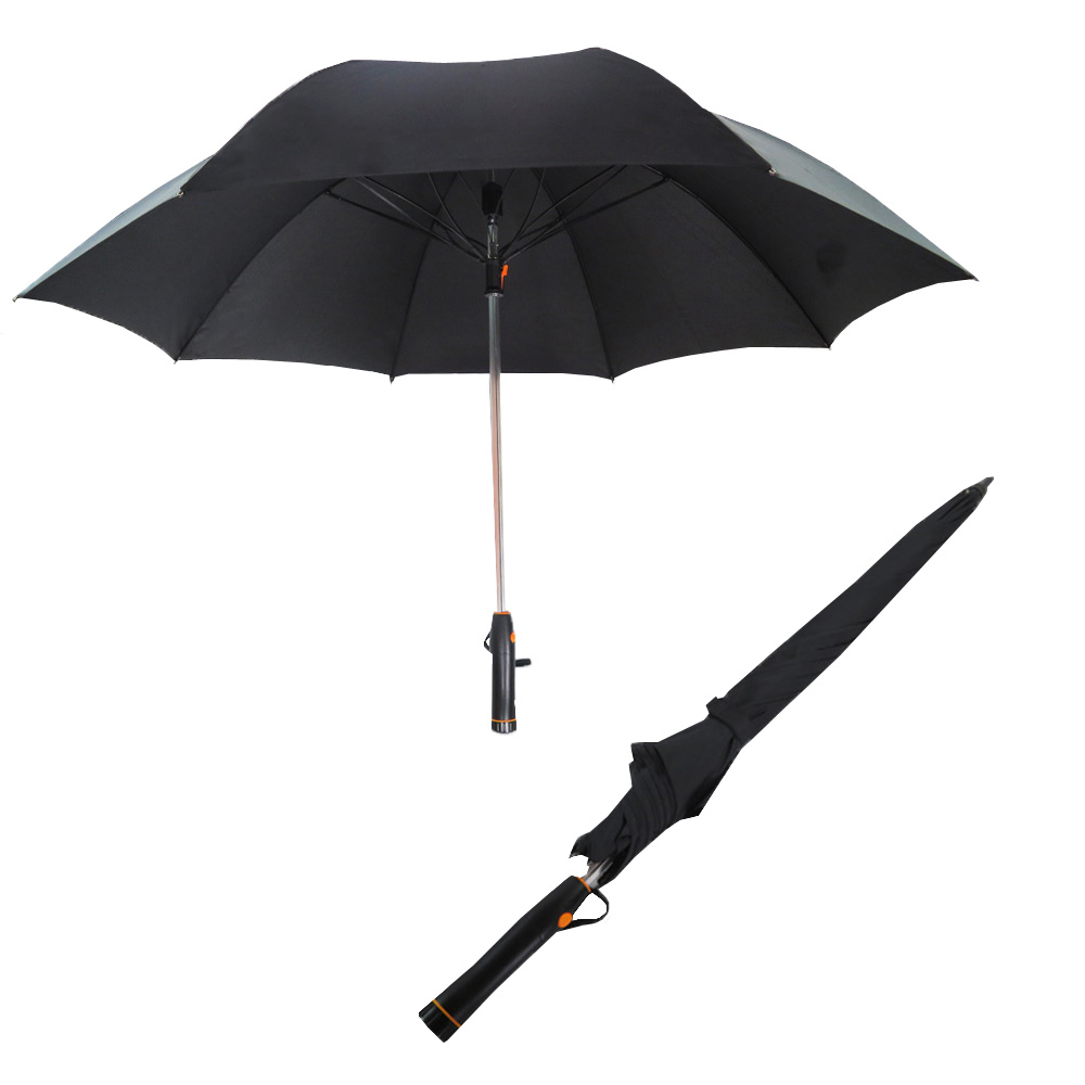 Hot selling promotional new brand black coated fan golf umbrella for men