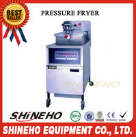 P012 pressure fryer with oil filter/single pot electric fryer/used chicken pressure fryers