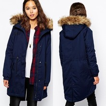 The hot sales in winter clothes fashion women ladies wear fur collar coat women parka