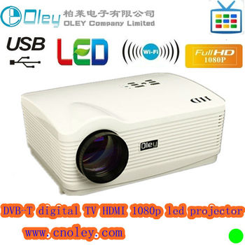 HD DVB-T projector support DVB-T MPEG4 1280*800 resolution for euro