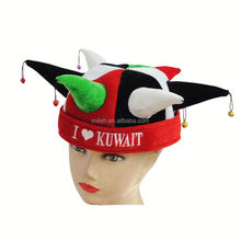 Party Carnival Funny Crazy velvet clown football jester hat MH-1842