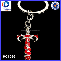 Game Miniature weapons metal model Frostmourne Sword Keychain ring Pendants