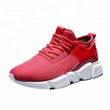 S8005 wholesale new model cheap dancing team unisex lovers' red black stock breathable mesh upper casual sport running <strong>shoes</strong>