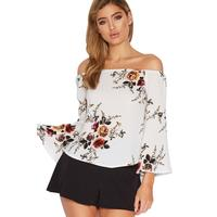 2017 Chic Design Short Sleeve Off Shoulder Blouses for Woman