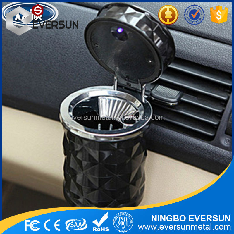 Portable interior car accessories Car Ashtray with LED Light