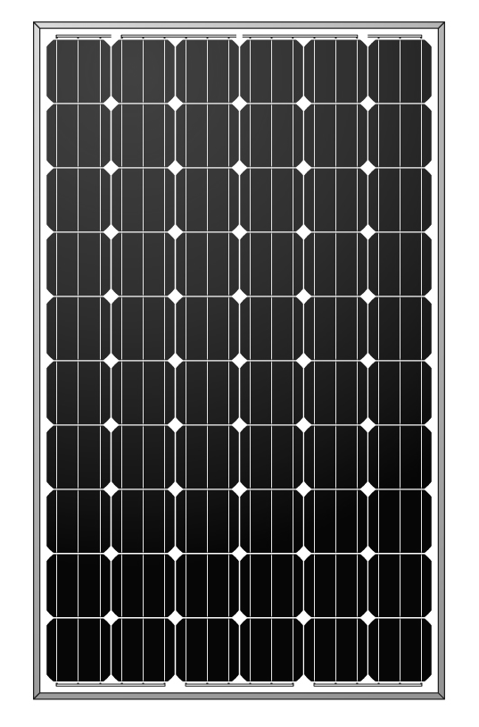 250W mono crystalline solar panel/solar module for touring car use