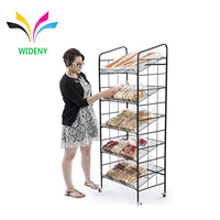 Supermarket Flooring Folding Metal Wire Bread
