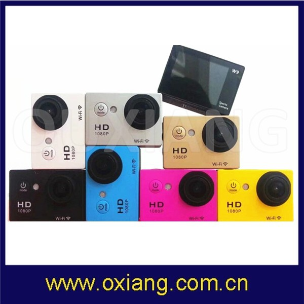 manufacturer hot sell video recorder digital action sport camera 1080P sport dv with wifi remote control
