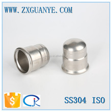 Stainless Steel SUS 304 M Profile Pipe Press Cap Fitting