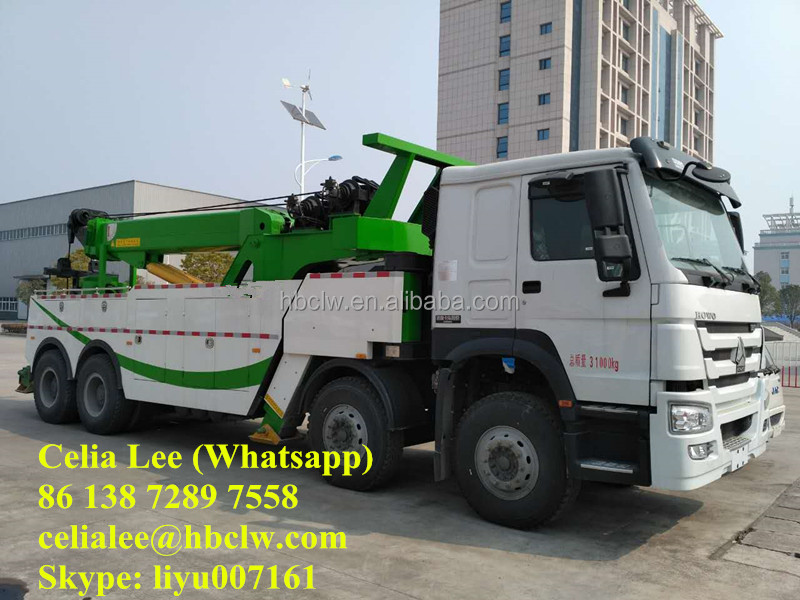 heavy duty tow truck under lift wrecker truck for sale road wrecker HOWO 8X4 wrecker truck
