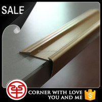Aluminum anti-slip stair nosing strips metal