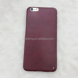 "leather plastic back soft cell phone case for Iphone 6 5.5"" Plus"
