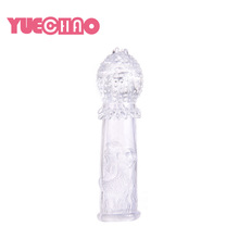 TPE Crystal Delay Ejaculation Extension Male Sex Toy Condom Extender Cock Penis Sleeves For Men