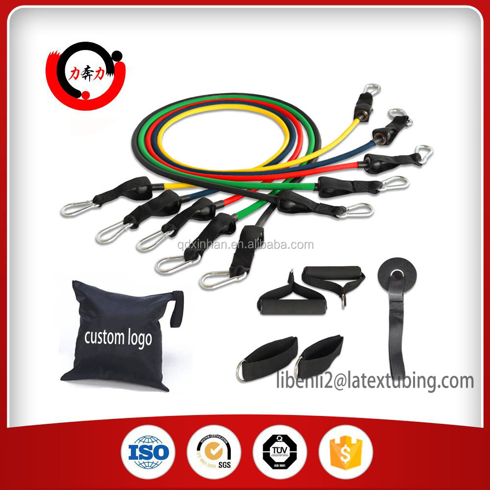 Gym equipment Fitness Exercise Resistance Bands Set With Door Anchor