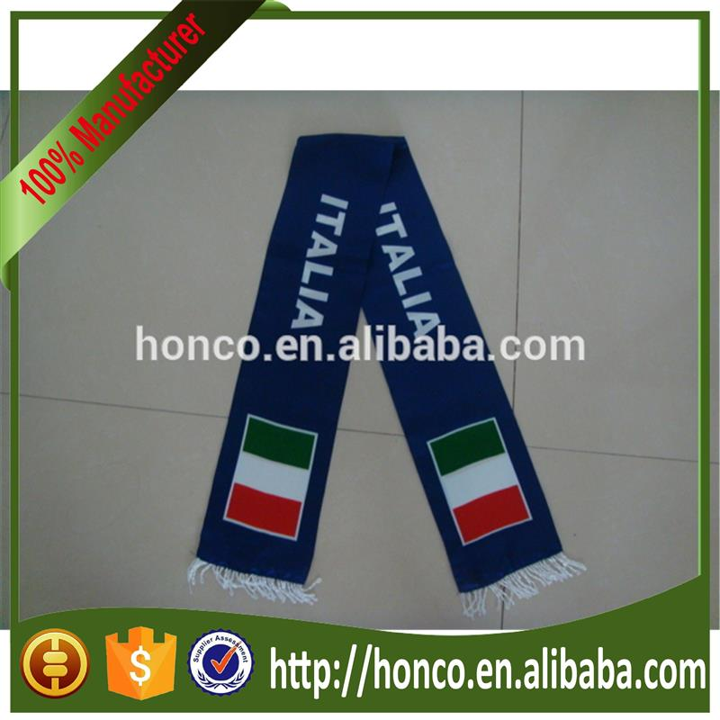 Cheapest Italy satin scarf for football fans Europe cup