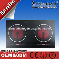 Newest 2 burner/double electric infrared ceramic cooker/hot plate/stove kitchen appliance