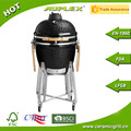 Home and Garden 21 Inch Ceramic Kamado Grill/Charcoal BBQ Grill