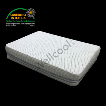 3d spacer mesh fabric mattress with silver edges covering