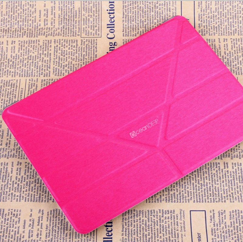 Hot selling new 4 folded smart cover for ipad air 32gb leather case new product for 2014 trendy case alibaba express