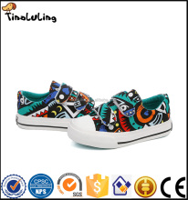 Colorful Cartoon Print Children Canvas Shoes buckle strap Kids wholesale Shoes Child Casual Shoes