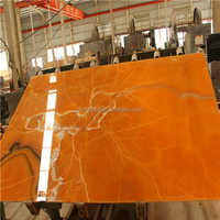 2015 low price orang onyx Mexico marble big slab