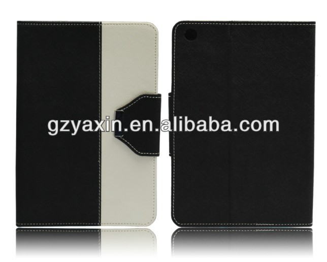 Best sale double color leather cases for apple ipad mini with low moq